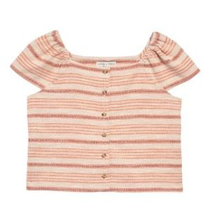 NWT Madewell Texture & Thread Button Front Top